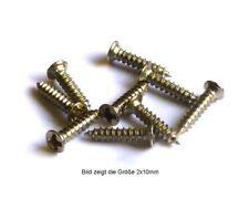 kleine Holz- / Blechschrauben, Stahl vernickelt, ab 1mm Ø, Senkkopf, 100 Stück