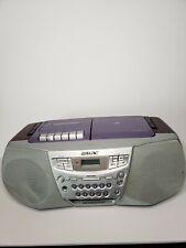 Sony Cfd-922 Cd Radio Cassette Recorder Boombox (purple) megabass