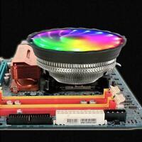 Universal LED CPU Cooling Fan RGB Lighting 4 Pin Intel Cooler Desktop Radia O5K0