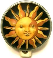 Collectible Celestial Theme Night Light Sun and Moon Blue and Gold Vintage '90s