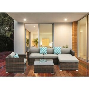 Outdoor 6-piece Wicker coffee table sofa sectional