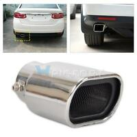 Chrome 63mm New Straight Stainless Steel Exhaust Tail Rear Muffler Tip Pipe End