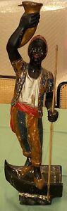 "Venetian Blackamoor 18/19th century Carved Wood Statue Rare 27"" Wealthy Estate"