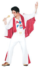 Elvis Presley Deluxe White Jumpsuit Adult Mens Costume Sequins Licensed Outfit