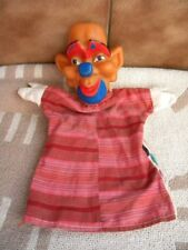Vintage Pupppet Glove Hand Rubber Cloth Doll Toy Clown