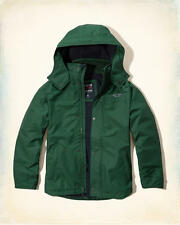 NWT HOLLISTER by Abercrombie Men's All Weather Fleece Lined Jacket Green L