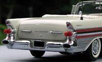 1 1950s Pontiac Built Vintage Sport Car 18 Model 24 Carousel White 12 Metal