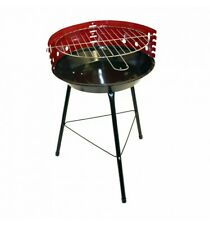 Portable 14 Inch Round Charcoal BBQ - Adjustable cooking grill