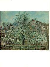 "1977 Vintage IMPRESSIONISM ""ORCHARD w/ FLOWERING FRUIT TREES PONTOISE Lithograph"
