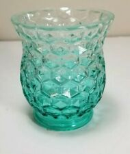 Yankee Candle Light Blue Chunky Block Pewter Glass VOTIVE Holder NEW w Tags