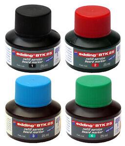 Edding BTK25 Nachfüll-Tusche/Tinte refill ink service board marker ALLE Farben!