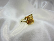 Schöner Ring Solitärring aus Gold 585 mit Citrin