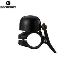 ROCKBROS Bicycle Bell Ring Aluminium Horn Mini Bell Handlebar Ring Clear Black