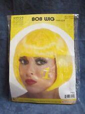 ADULT YELLOW BOB WIG 80'S RETRO HALLOWEEN COSTUME PARTY