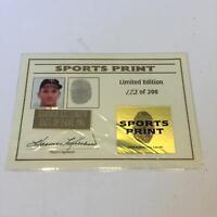 Rare Harmon Killebrew Signed Baseball Card With His Actual Fingerprint JSA COA