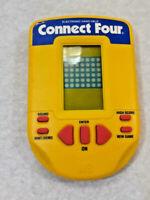 Connect Four Electronic Handheld Game Yellow (Milton Bradley, 1995) ~ Ships FREE
