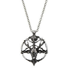 Vintage Satanic Goat Occult Ritual Vintage Baphomet Inverted Necklace Pendant