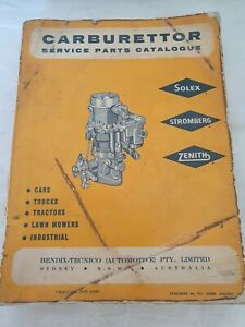 Carburettor Parts Book Workshop Manual