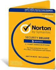Norton Security Deluxe & Utilities 2018-1 Year For 5 Devices -Delivery Via Email