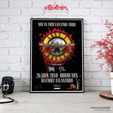 Guns N' Roses | Bordeaux 26 Juin 2018 - Fine Art Poster HR Affiche Locandina