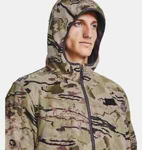 Under Armour Brow Tine Barren Camo Hunting Jacket Quiet Mid-Season Men's XL $170