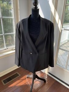 Tahari Arthur Levin Black Womens Size 24W Plus Blazer
