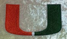 """University of Miami NCAA 3.50"""" Iron On Embroidered Patch ~FREE Ship!!"""