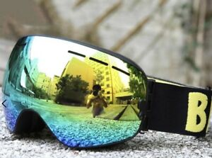 Be Nice Snowboarding Ski Goggles UV400 Protectant Mirrored Anti-Fog Double Lens