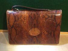 Vintage Hand Made Python Skin Shoulder Bag Thaïlande