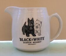 BLACK & WHITE BUCHANAN'S SCOTCH WHISKY VTG CERAMIC PITCHER / WATER JUG
