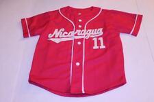 Youth Girls Nicaragua #11 Sz 8 Baseball Jersey (Pink) Jersey