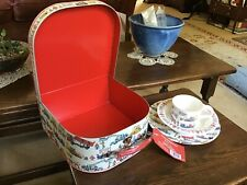 Emma Bridgewater Builders at Work Carrying Case with 3 piece melamine set.