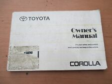 Toyota Corolla seventh gen Owners Manual 1991 - 1995