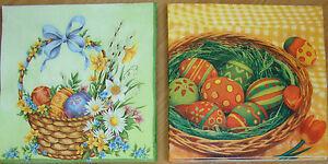 4 sets paper napkins,Easter eggs,flowers,basket,serviette,33cm- 2pcs,decoupage