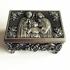 Lager Holy Family Rosary Eucharistic box Christian Roman rosary case crucifix