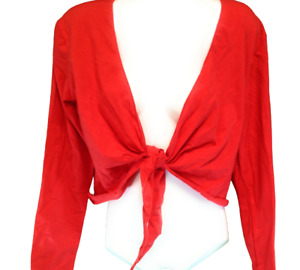 Womens Puma Tie Top 502138 03 Vintage 2004 Mahanuala Red Long Sleeve Shirt