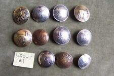 BUTTONS made from coins -Vintage-11 pieces-solid-different countries