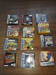 Lot 12 jeux Nintendo Game Boy Color Advance GBA GBC complets CIB Mario Metroid