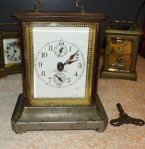 Antique Venir De Lour Musical Alarm Clock w/Key