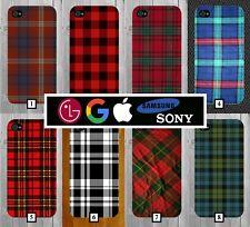 Tartan Flannel Phone Case + FREE iPhone Stand Red Blue Design Pattern Kilt 620