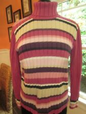 CHEROKEE STRIPED PULLOVER TURTLENECK SWEATER SIZE XL PRE-OWNED