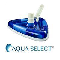 Aqua Select See-Thru Triangular Swimming Pool Vacuum Head w/ Brushes