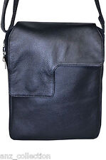 Men's Black Small Messenger Shoulder Cross Body Lightweight Flight Ipad Bag 4720