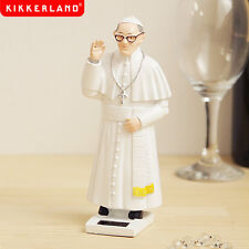 New SOLAR ENERGY POWERED POPE Figure Figurine WAVE BLESSING Statue Kikkerland