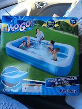 In Stock Blue Rectangular Pool