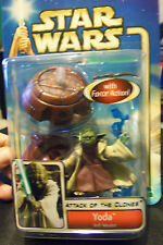 Star Wars AOTC Attack Of The Clones Yoda Jedi Master Figure Force Action Too!