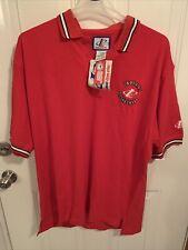 Vintage Logo Athletic Indiana University Basketball Iu Xxl Polo Shirt Nwt 90s