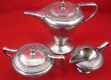 Antique SILVERPLATE TEA SET Standard Silver Company Creamer Sugar Bowl Tea Pot