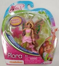 "Winx Club Fairy Doll FLORA Power of Harmonix Collection Pose 3.75"" Nickelodeon"