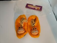 Vintage 1978 Kids Garfield Slippers Size Large Excellent Condition With Bag